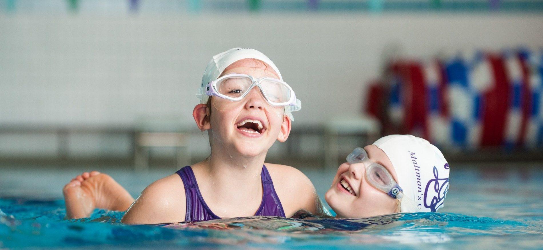 Swimming Lesson at School