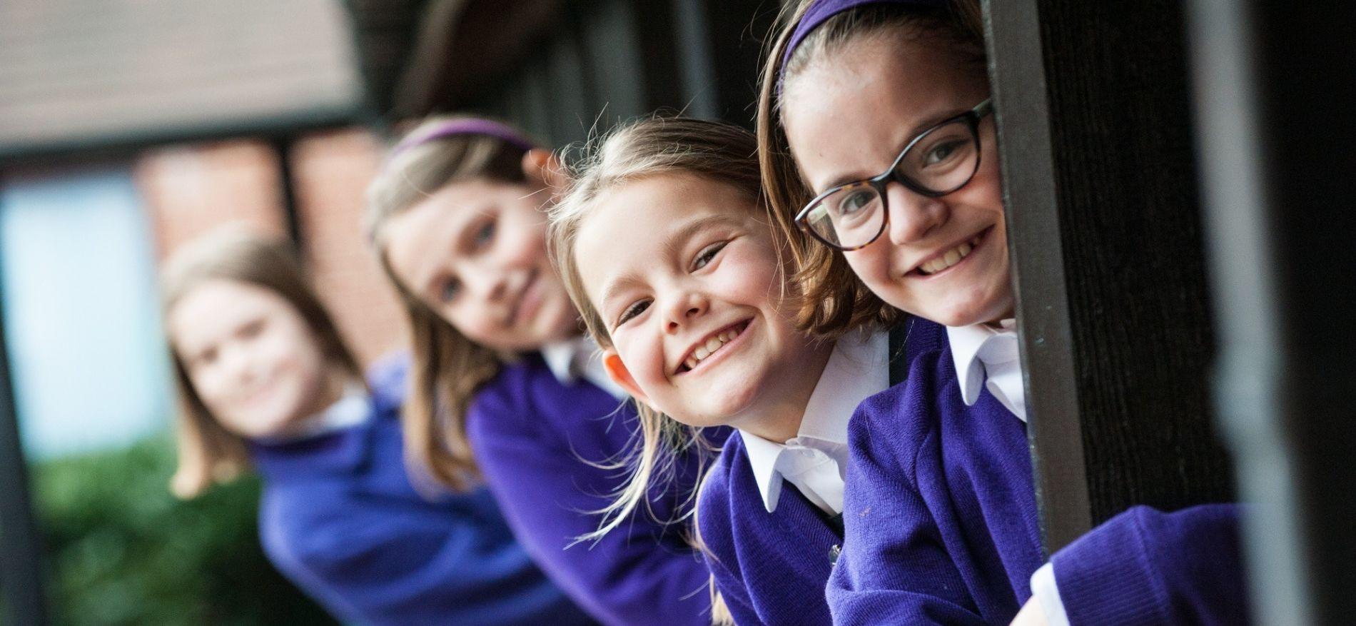 smiling school girls at Maltman's Green
