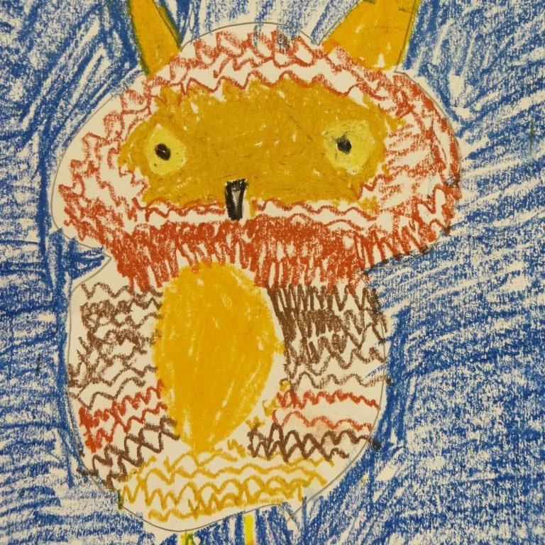 Y3&4 Oil pastel owls